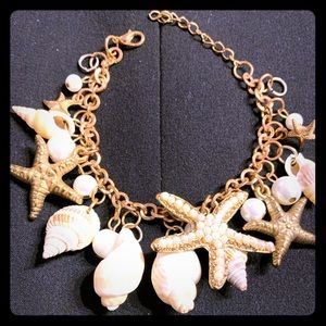 Jewelry - Bracelet with shells, starfish (good condition)